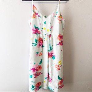 Joules Zoey floral dress linen blend size 10